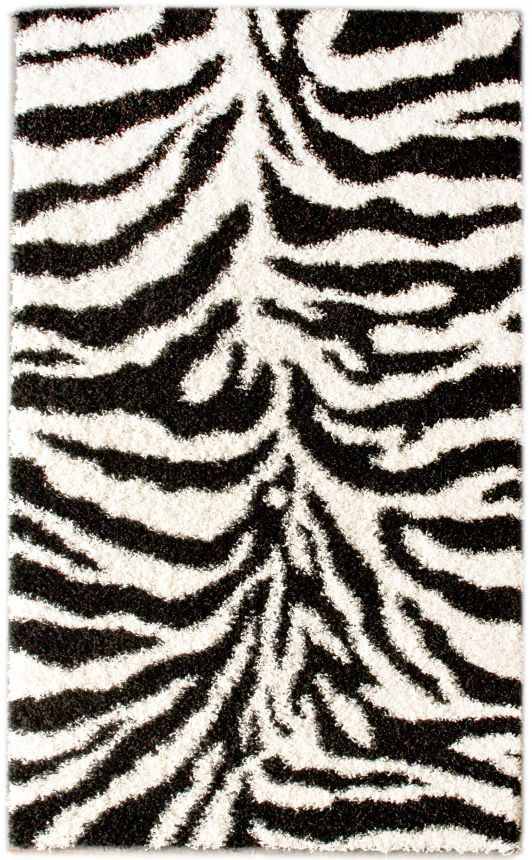 Rugs USA Venice Zebra Print Black And White Rug