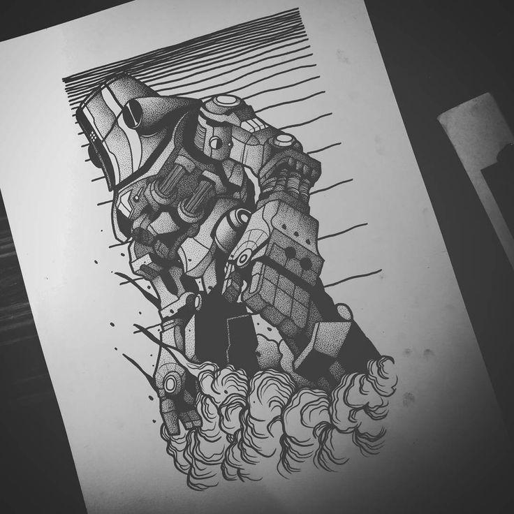 Robot.  #tattoo #tatuagem #desenho #drawing #arte #art