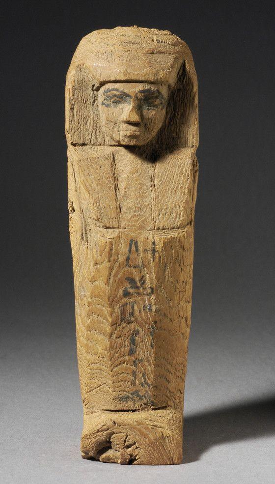 Wooden shabti. New Kingdom, c. 1569-1081 B.C.E. | Los Angeles County Museum of Art