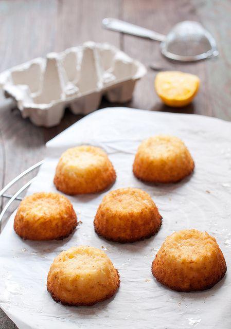 Meyer lemon mini cakes