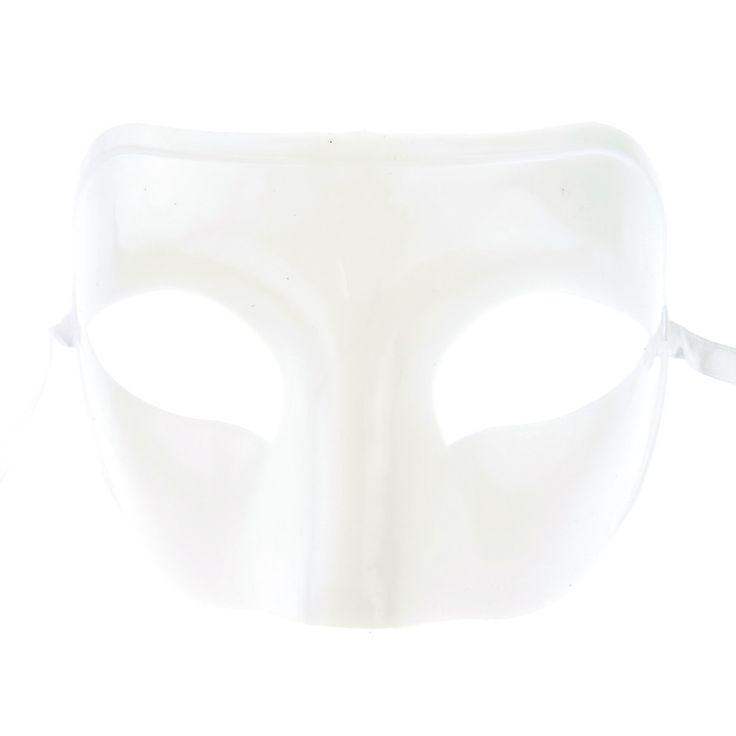 Plain White Mask, 9-1/2-inch, 12-pack