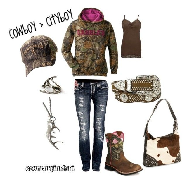 """Somethin bout a truck"" by danielledavis-1 ❤ liked on Polyvore featuring Cabela's, Miss Me, BKE, Ariat, Nocona, Antler, country, country girl, cowgirl and camo"