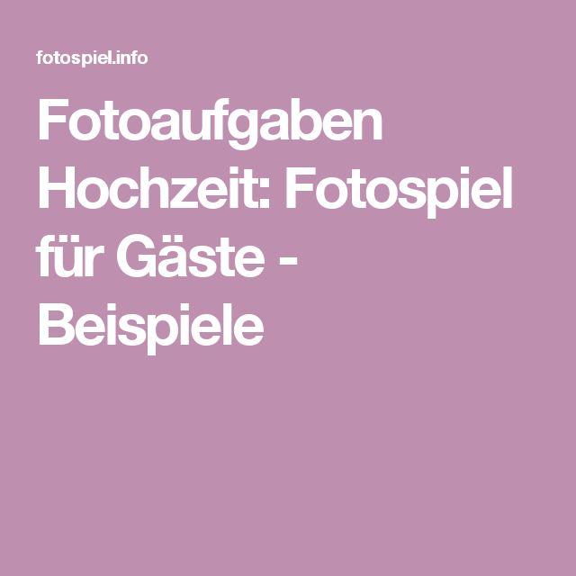 Fotoaufgaben Hochzeit: Fotospiel für Gäste - Beispiele