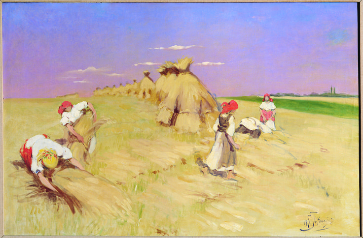 The Harvest - by Wlodzimierz Przerwa Tetmajer, ca. 1905; oil on canvas; donated by Miss Mary Glowacki.