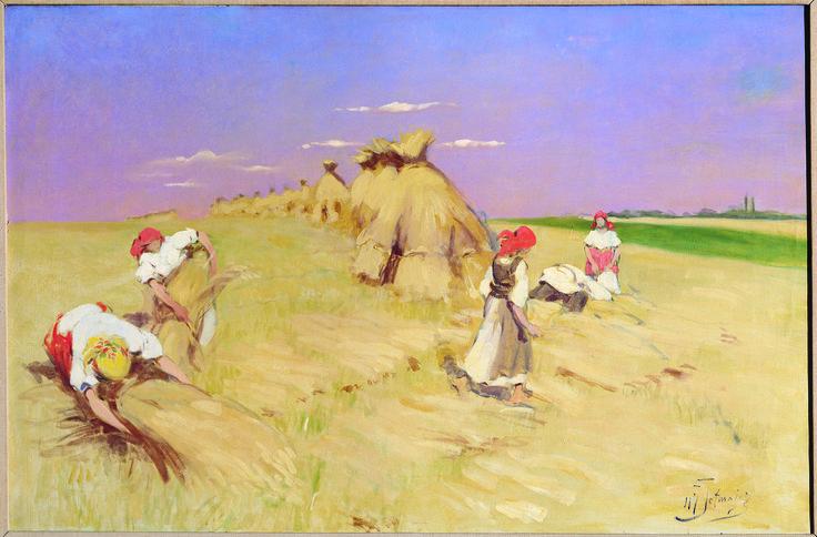 The Harvest - by Wlodzimierz Przerwa Tetmajer, ca. 1905; oil on canvas; donated by Miss Mary Glowacki.
