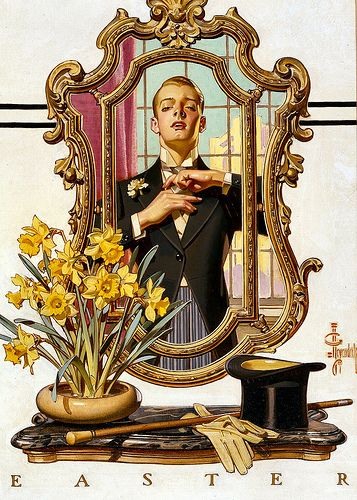 Joseph Christian Leyendecker. (Reminds me of Fred Astaire in Easter Parade)