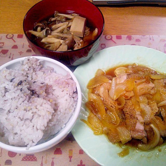 今日カレーにして天の川みたいにすれば良かったな - 6件のもぐもぐ - 7月7日 鶏のゆずこしょう照り焼き きのこと高野豆腐のお吸い物 by sakuraimoko
