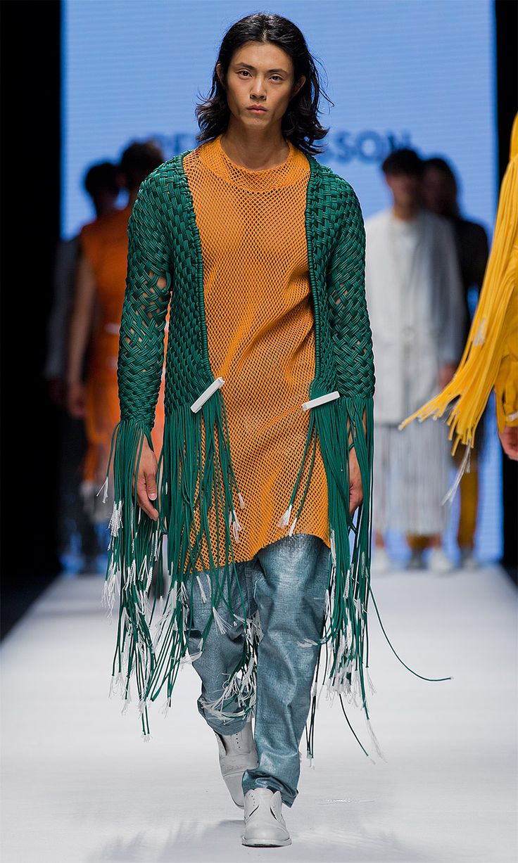 Per Hansson - The Swedish School of Textiles SS15 graduares. Fashion Week Stockholm.