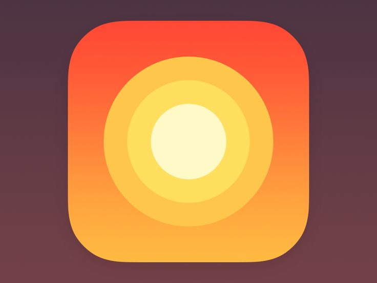Tried minimalistic approach with the sun from the app itself. What do you think guys? Behance | Twitter