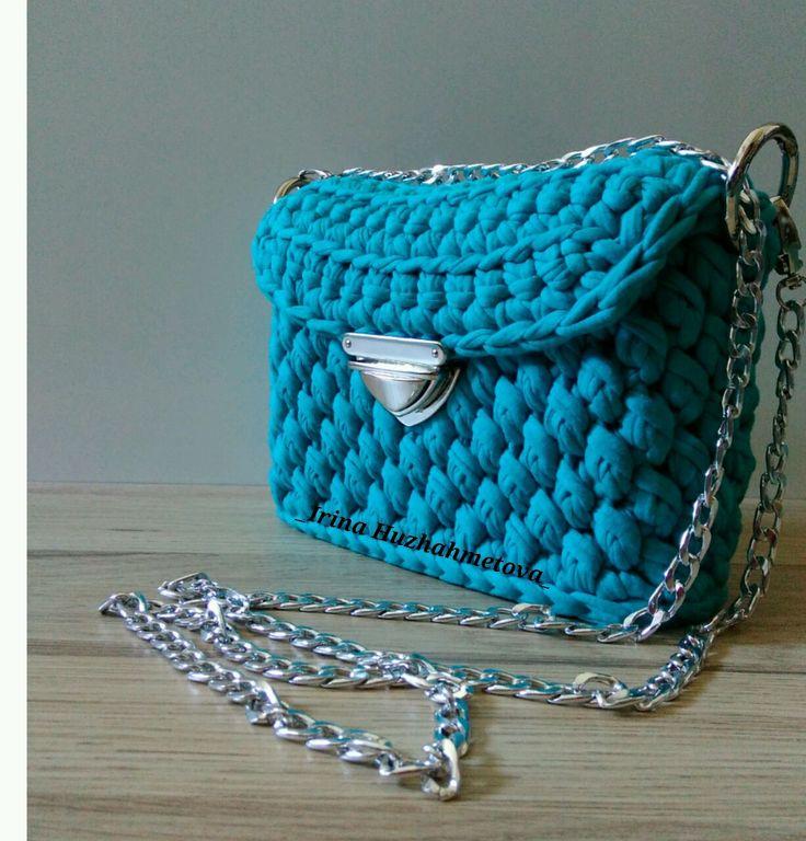Купить Клатч из трикотажной пряжи. - клатч, клатч ручной работы, сумка, сумка ручной работы