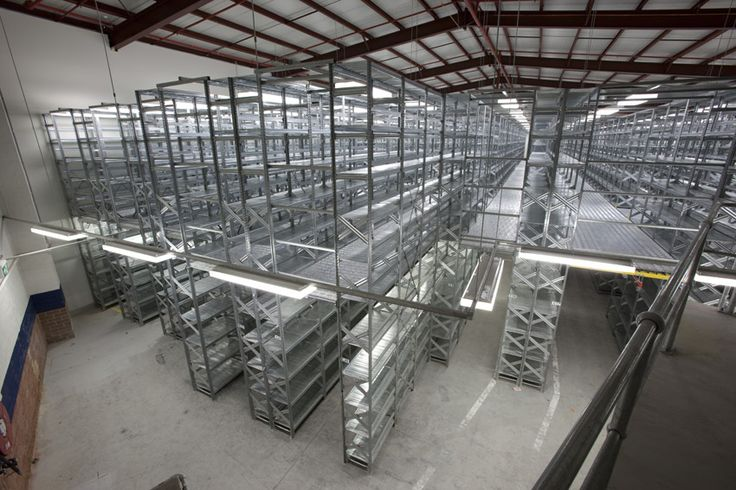 Multi-tier built with the Metalsistem shelving series. Maximise floor space utilise roof height.  www.metalsistemaustralia.com.au