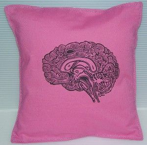 Geekery Girl Pillow Cushion Linocut Brain Print Different 25 x 25 cm & 75 best Cushion ideas images on Pinterest | Cushion ideas Cushion ... pillowsntoast.com