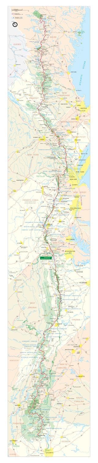 Best Map Of Appalachian Trail Ideas On Pinterest Appalachian - Georgia vt map