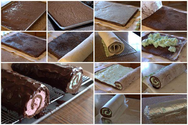 Chocolate Ice Cream Cake Roll Recipe | Barbara Bakes