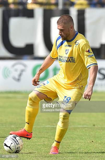 Federico Dionisi of Frosinone in action during the Serie B match between Frosinone Cacio and FC Crotone at Stadio Matusa on May 16 2015 in Frosinone...
