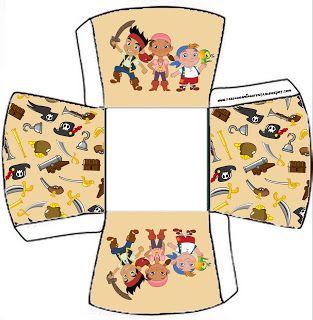 Cajitas imprimibles de Jake y los piratas de Nunca Jamás.
