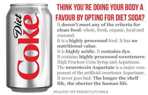 Think You're Doing Your Body a Favour by Opting for a Diet Soda? Thanks Raw for Beauty