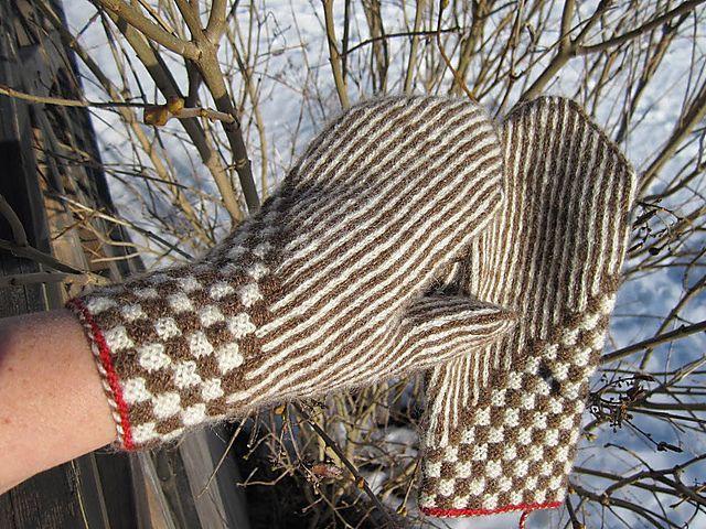 Ravelry: Lars, tvåändsstickade vantar pattern by marias garn