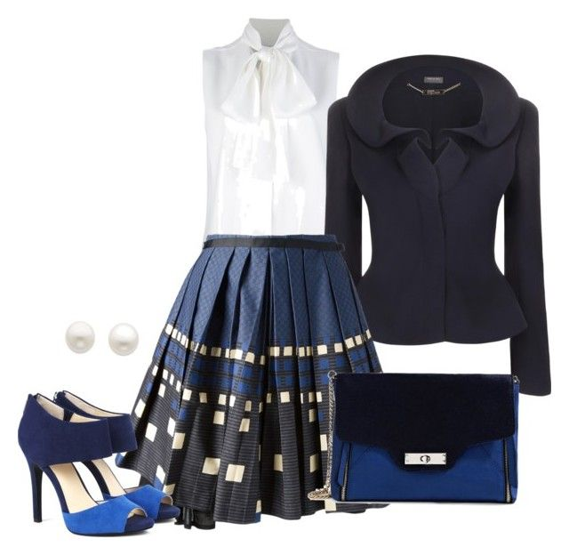 Blue&Grey by mylittlestar on Polyvore featuring polyvore fashion style Victoria Beckham Alexander McQueen Eggs Sole Society GUESS by Marciano Reeds Jewelers clothing