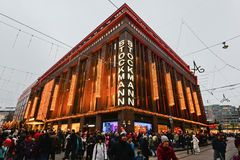 Shoping mall Stockmann in Helsinki Stock Images