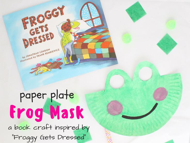 Mer enn 25 bra ideer om froggy gets dressed p pinterest paper plate frog mask a book craft inspired by froggy gets dressed plus pronofoot35fo Images