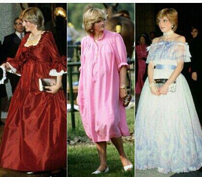 Fotografías de la Princesa Lady Diana embarazada.