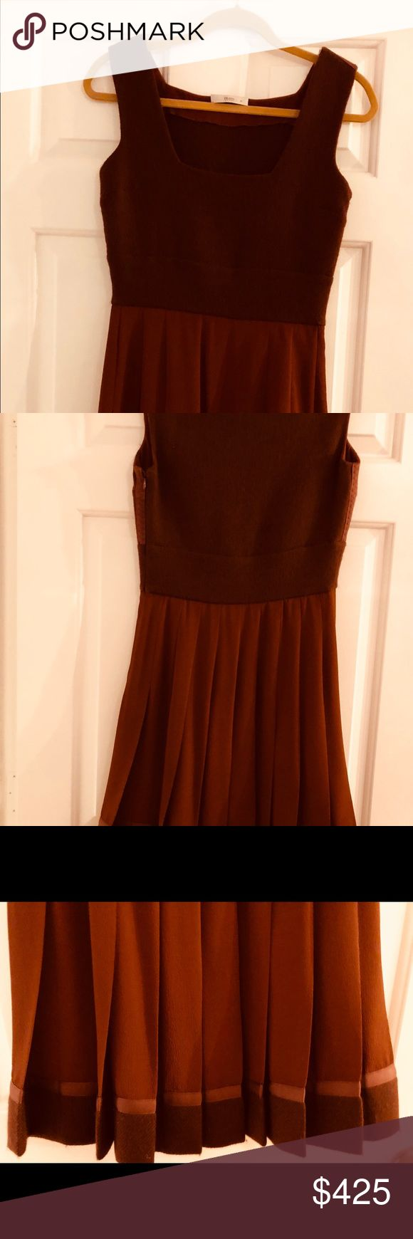 PRADA  Copper Pleated Dress PRADA collection  Color : Rust Bruciato Size: European 40 Only worn twice - like new. No flaws at all!!   I hate letting go of this one!!! Prada Dresses