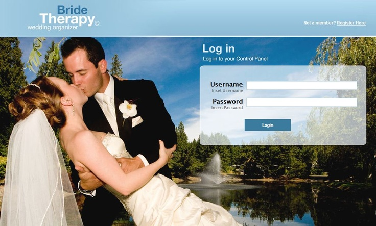 You can login to your organizer online with a PC too. This gives you access to your personal information, photo upload, reports and more. www.bridetherapy.com