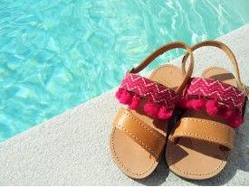 Pom- Pom Kids Sandals