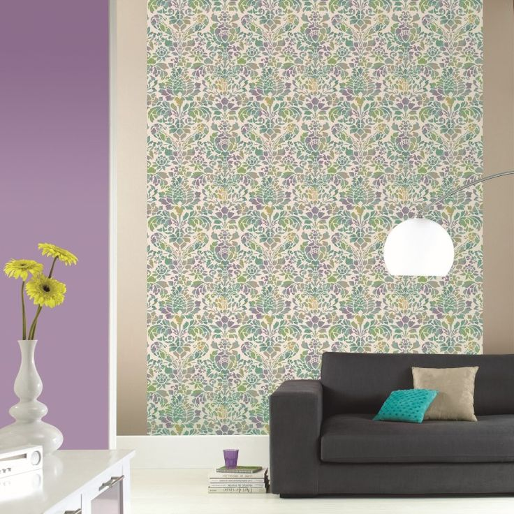 The fresh colours make this patterned wallpaper mural the high-light in the room. From the Trendy Panels collection, Namaste TDP63806063. This is a Guthrie Bowron exclusive range in NZ.