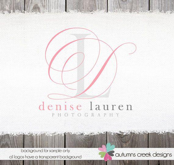 Custom Premade Photography Logo Name Swirl Frame by autumnscreek
