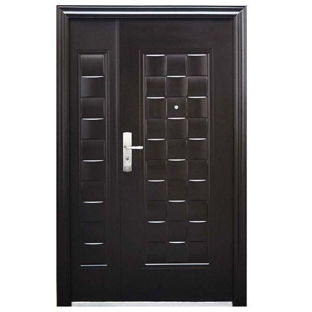 Medida: 1.30 x 2.13 m. Color chocolate. Cerradura de seguridad con 11 pasadores. Pintura de poliuretano. Puerta de seguridad fabricada de acero 100%. Incluye cerradura de seguridad semi-automática con 11 pasadores de seguridad en 5 niveles. Bisagras reforzadas ocultas en marco. Manija exterior cuenta con Luz LED. La puerta incluye el marco de acero con chambrana exterior. Se entregan 6 copias de llaves y mirilla telescópica. Modelo LU130215CHDE. 1 año de garantía.