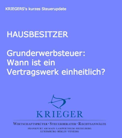 """Information zum Thema Grunderwerbsteuer bei Grundstückskauf und Bauvertrag in """"KRIEGER's kurzes Steuerupdate""""   #Steuer #Grunderwerbsteuer #Grundstückskauf #Bauvertrag"""