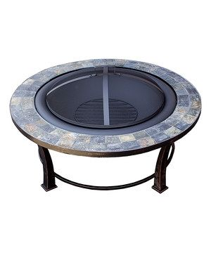 Slate Round Wood-Burning Fire Pit by AZ Patio Heaters #zulily #zulilyfinds