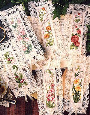 Flower of the Month Cross Stitch Bookmark Patterns ePattern - Leisure Arts