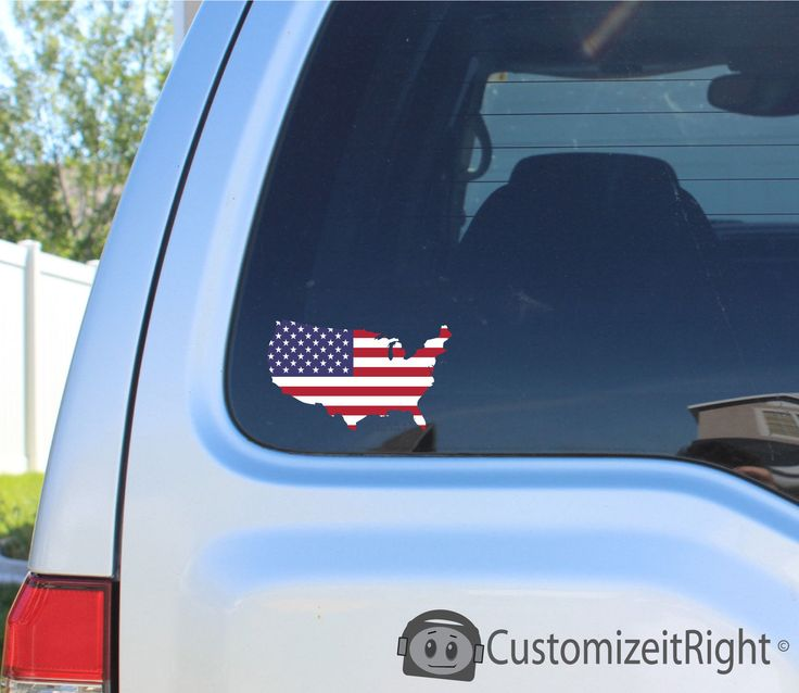 United States of American Flag - Sticker decal car window bumper - 2016 Campaign picclick.com