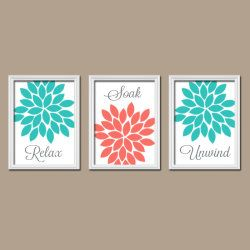 Coral Colored Wall Decor 27 best bathroom wall art images on pinterest | bathroom wall art
