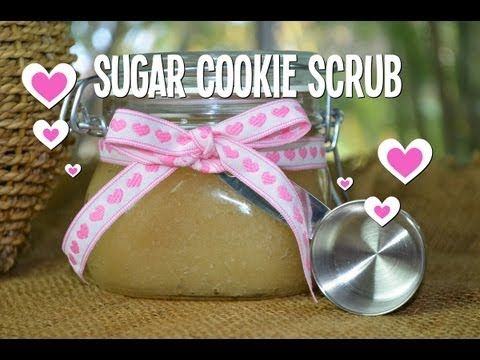 ***OPEN ME***  How to make Sugar Cookie body scrub! A simply scrumptious body scrub recipe with coconut, vanilla and sugar... smells like freshly baked warm sugar cookies just out of the oven! Personalize with colorful ribbon or natural twine, a label and you have a luxurious body treat that's yummy enough to eat... Makes a delicious gift!!     For...