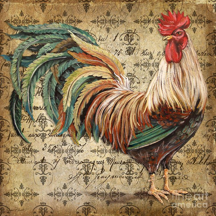Rustic Rooster-jp2120 Painting