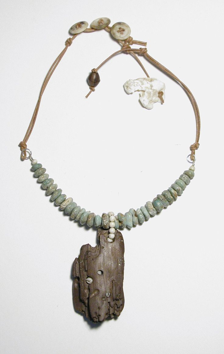 driftwood and turquoise necklace