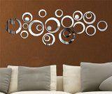 #Casaecucina #9: Specchio decal adesivo progettazione 3D design futuro moderno metallo superficie decorazione murale per decal soggiorno camera da letto