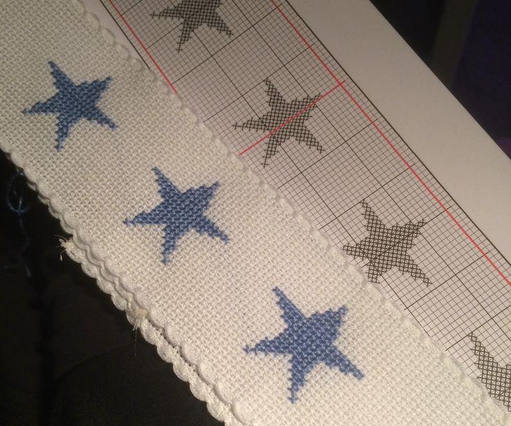 #pyyhe #towel #ristipisto #cross-stitch