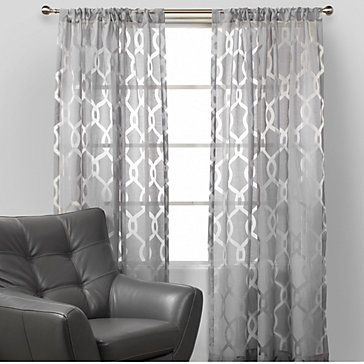 Sheer gray curtains