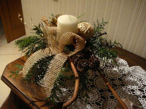 D coration de tables et art floral osier vignes et - Decoration florale noel ...
