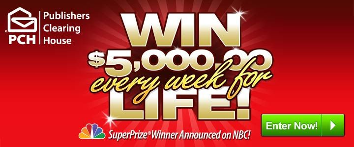 who won publisher clearing house pch win 1million plus 5 000 a week for life signs 7121