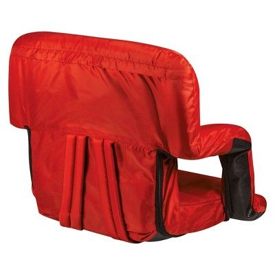 Picnic Time Ventura Portable Stadium Seats - Red (10.0 Lb)