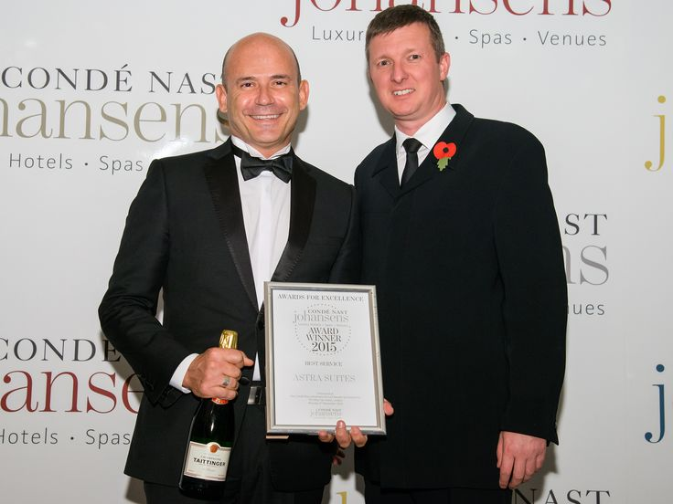 Astra Suites has won the prize for BEST SERVICE from the Conde Nast Johansens for third year in a row!