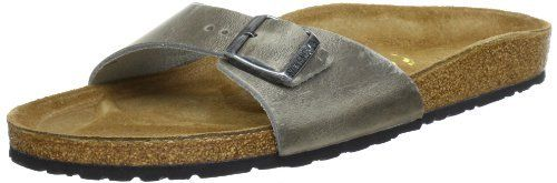 Birkenstock slippers Madrid from Leather in Antique Grey with a regular insole Birkenstock. $49.93. leather