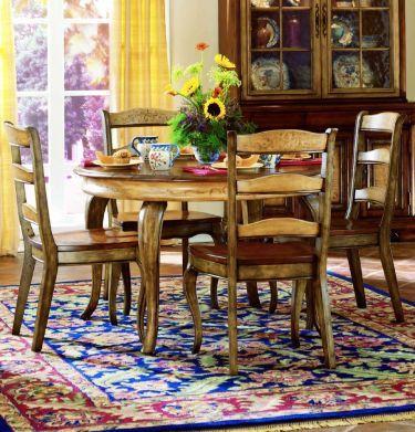 5-pc Vineyard Round/Oval Table Dining Set, Hooker Furniture, Vineyard