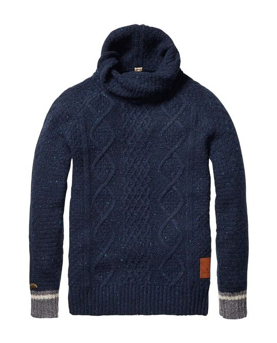 Naps Yarn Pull With Twisted Shawl Collar > Mens Clothing > Pullovers at Scotch & Soda